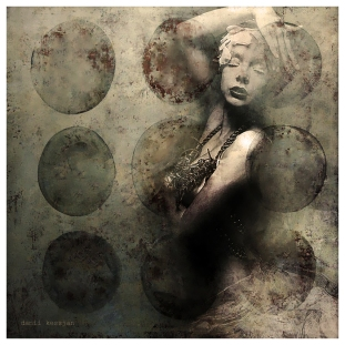Circles Series - Digital collage by Danii Kessjan
